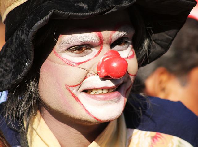 clown pour fête de Noël